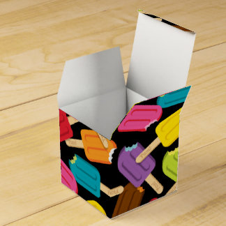 Yum! Popsicle Favor Box — Black Party Favour Boxes