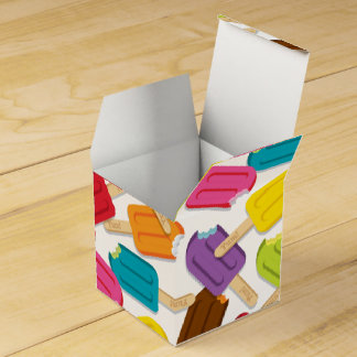 Yum! Popsicle Favor Box — White Party Favour Boxes