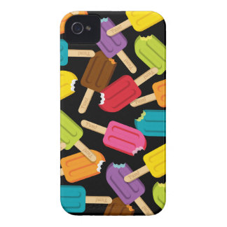 Yum! Popsicle iPhone Case (Black) iPhone 4 Cases