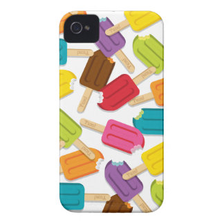 Yum! Popsicle iPhone Case (White) Case-Mate iPhone 4 Case