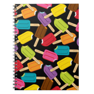Yum! Popsicle Journal (Black) Spiral Note Book