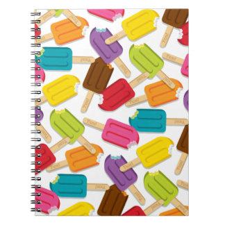 Yum! Popsicle Journal (White) Spiral Notebooks