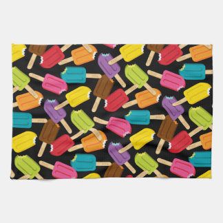 Yum! Popsicle Kitchen Towel — Black
