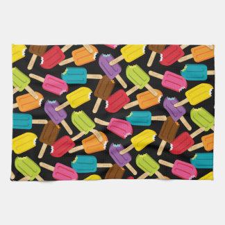 Yum! Popsicle Kitchen Towel — Black