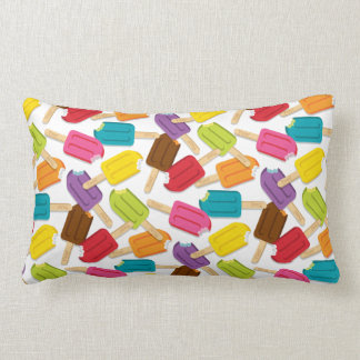 Yum! Popsicle Pillow — LUMBAR (White) Cushion