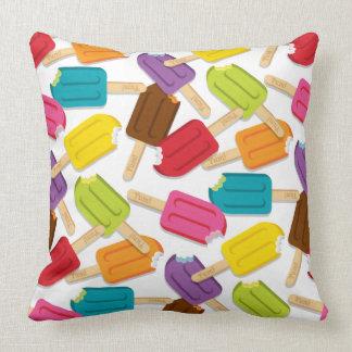 Yum! Popsicle Pillow — SQUARE (White) Throw Cushions