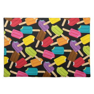 Yum! Popsicle Placemat — Black