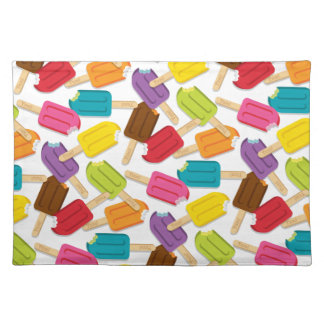Yum! Popsicle Placemat — White