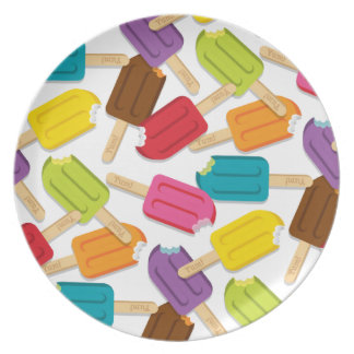 Yum! Popsicle Plate Style 2 (White)
