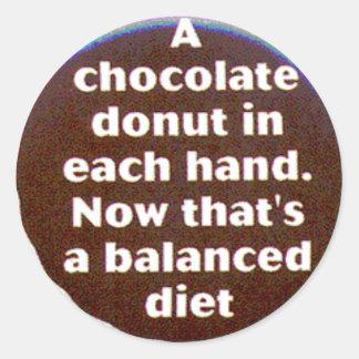 yum round sticker