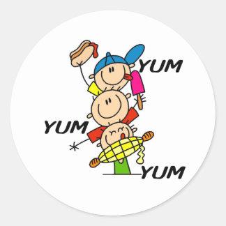 Yum Yum Summer Round Sticker