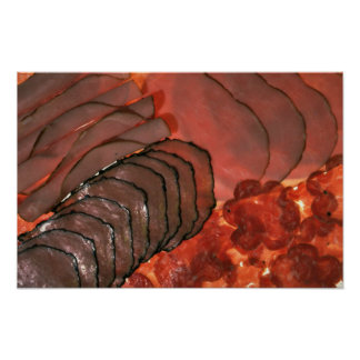 Yummy Assorted cold cuts Poster