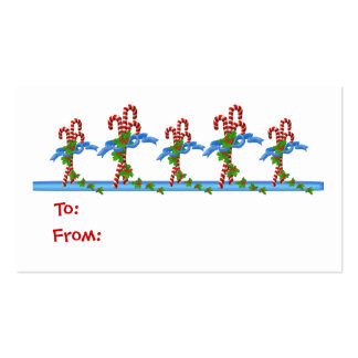 Yummy Candy Cane Lane Christmas Gift Tags - Busine Pack Of Standard Business Cards