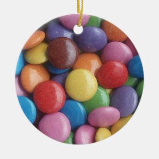 Yummy Candy Round Ceramic Decoration
