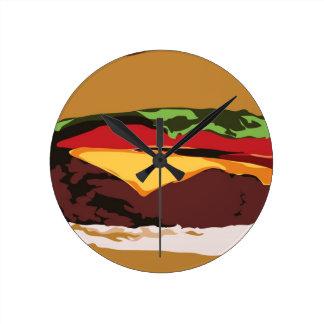 Yummy Cheeseburger Clock