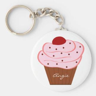 Yummy Cherry Icing Cupcake Keychain