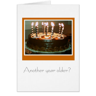 Yummy Chocolate Cake Note Card
