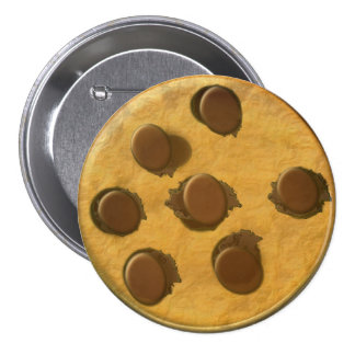 Yummy Chocolate Chip Cookie 7.5 Cm Round Badge