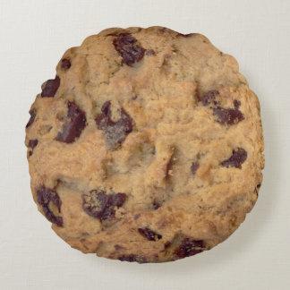 Yummy Chocolate Chip Cookie Round Cushion