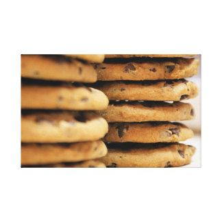 Yummy chocolate chip cookies photo canvas print