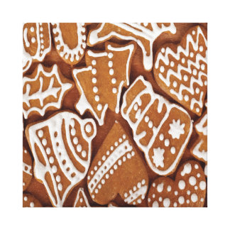 Yummy Christmas Holiday Gingerbread Cookies Canvas Prints