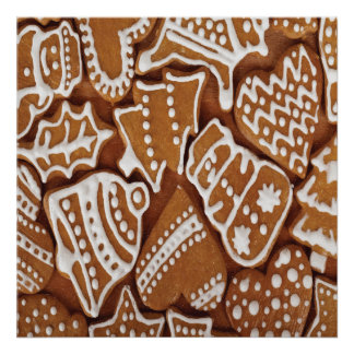 Yummy Christmas Holiday Gingerbread Cookies Posters