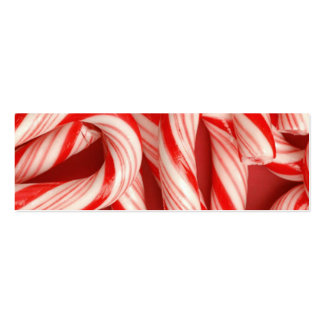 Yummy Christmas Holiday Peppermint Candy Canes Business Card Template