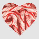 Yummy Christmas Holiday Peppermint Candy Canes Sticker