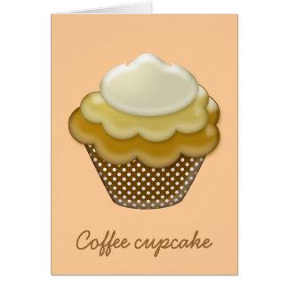 yummy coffee cupcake greeting card