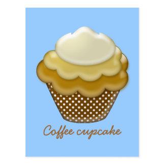 yummy coffee cupcake postcard
