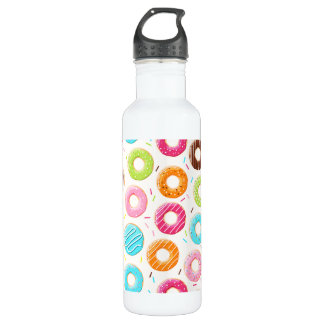 Yummy colorful sprinkles donuts toppings pattern 710 ml water bottle