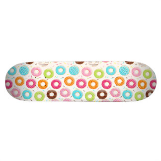 Yummy colorful sprinkles donuts toppings pattern custom skate board