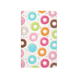Yummy colorful sprinkles donuts toppings pattern journal