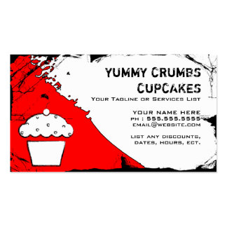 yummy crumbs cupcakes business card templates