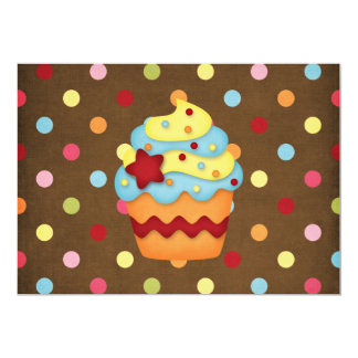 yummy cupcake 13 cm x 18 cm invitation card