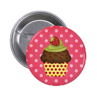 yummy cupcake 6 cm round badge