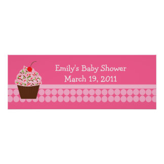Yummy Cupcake Baby Shower /  Birthday Banner Poster