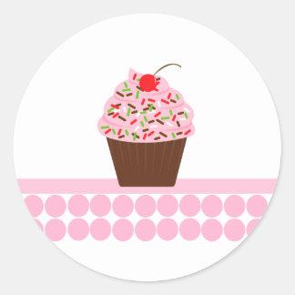 Yummy Cupcake Envelope Seals Round Sticker