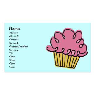 Yummy Cupcake Frosted Business Card