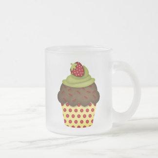 yummy cupcake frosted glass coffee mug