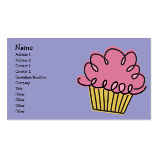 Yummy Cupcake Pack Of Standard Business Cards