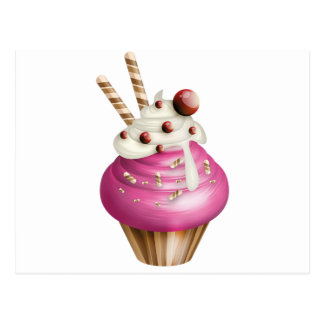 Yummy cupcake post cards