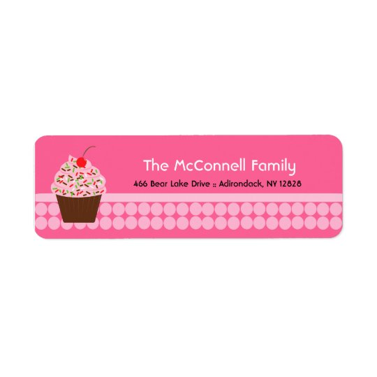 Yummy Cupcake PRINTABLE ADDRESS LABELS