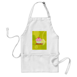 Yummy Cupcake Sweet Yellow Color Aprons