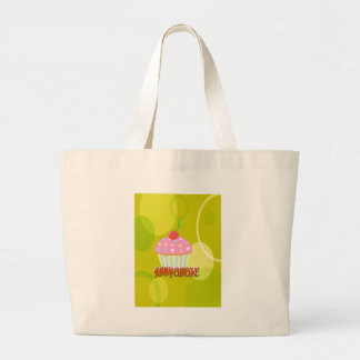 Yummy Cupcake Sweet Yellow Color Canvas Bags