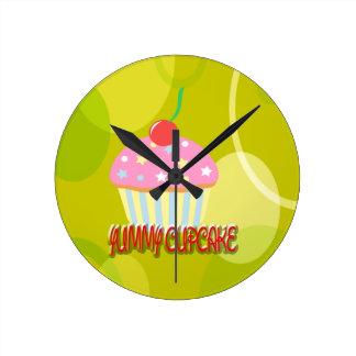 Yummy Cupcake Sweet Yellow Color Clock