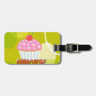Yummy Cupcake Sweet Yellow Color Travel Bag Tags