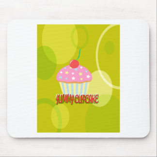 Yummy Cupcake Sweet Yellow Color Mouse Pad