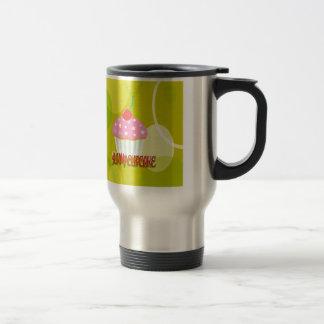 Yummy Cupcake Sweet Yellow Color Stainless Steel Travel Mug