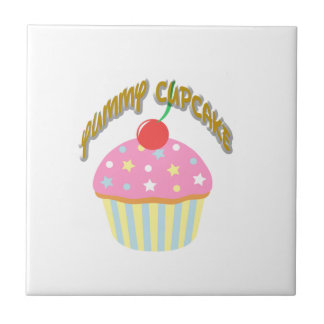 Yummy Cupcake Small Square Tile